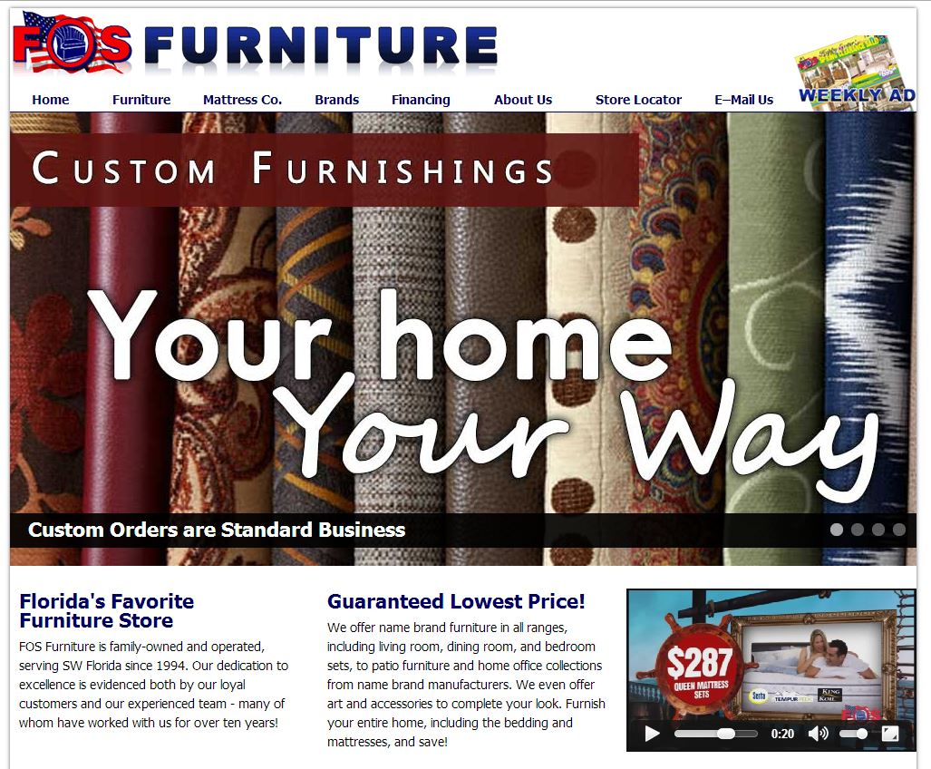 Fos Furniture website