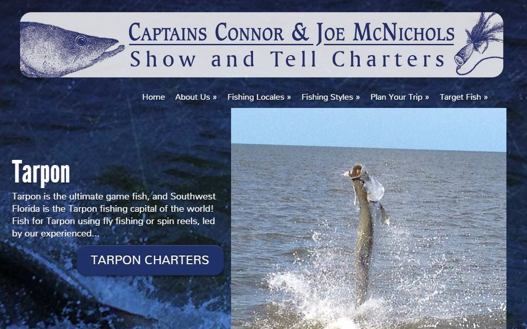 Show and Tell Charters website