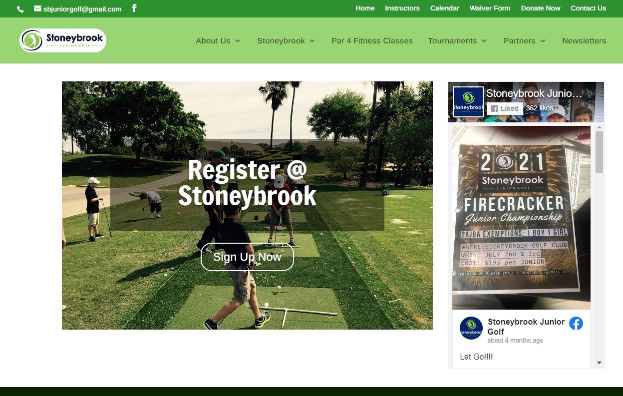 Stoneybrook Junior Golf Website