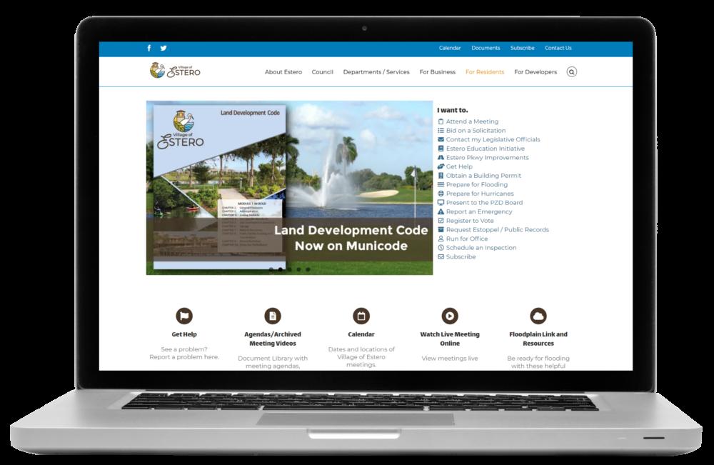 Village of Estero Website
